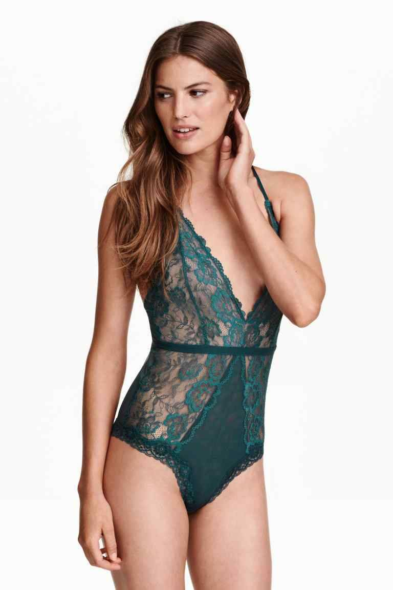 H&M Petrol Lace Body