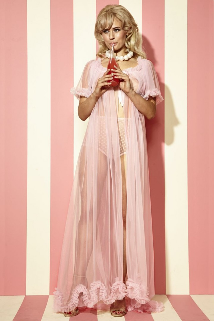 Dottie's Delights | Sundae Long Dressing Robe in Cotton Candy