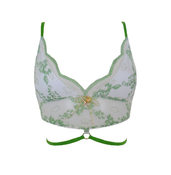 Amathia Green Lace Bralette by Esty Lingerie