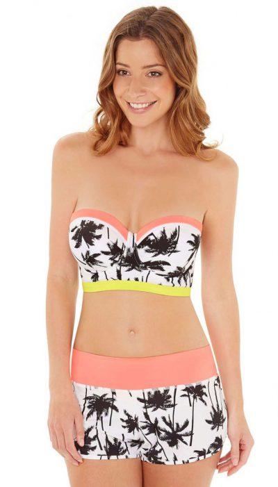 Lepel Venice Beach Longline Bandeau Bikini & Shorts