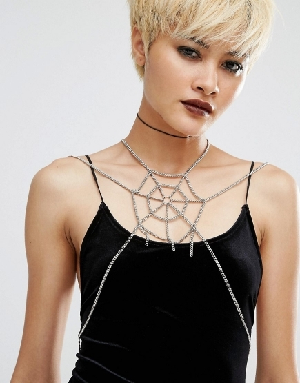 Regal Rose Spider Web Body Chain Harness