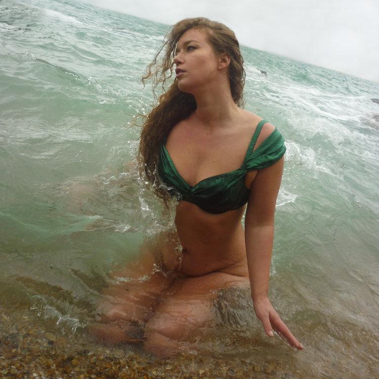 Emerald Sea Silk Bra - MariLupa