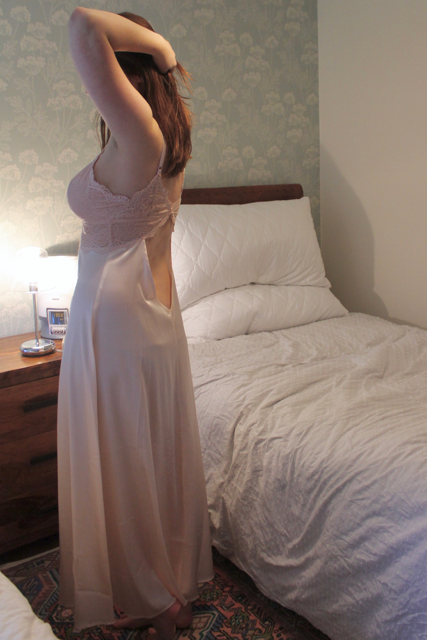 NK iMODE Victoire silk long gown review in shell