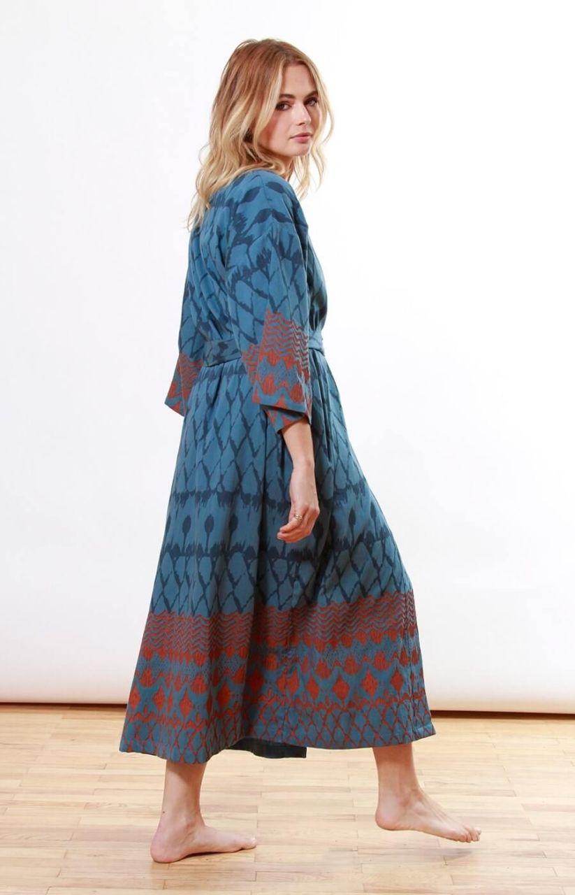 Verry Kerry Petrol & Rust Kimono