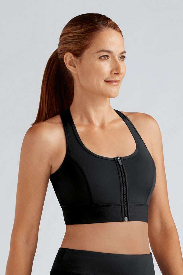 Amoena front fastening zip bra for women with arthritis and limited mobility