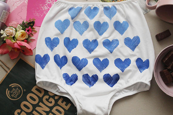 Three Souls Lingerie Ombre Heart Briefs