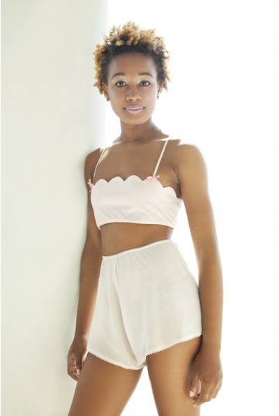 She & Reverie Scallop Bralette