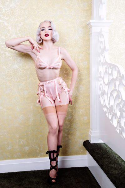 Dottie's Delights Grosgrain Garter Belt - ballet inspired lingerie