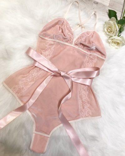 Lucy Amber Rosie Bodysuit - ballet inspired lingerie