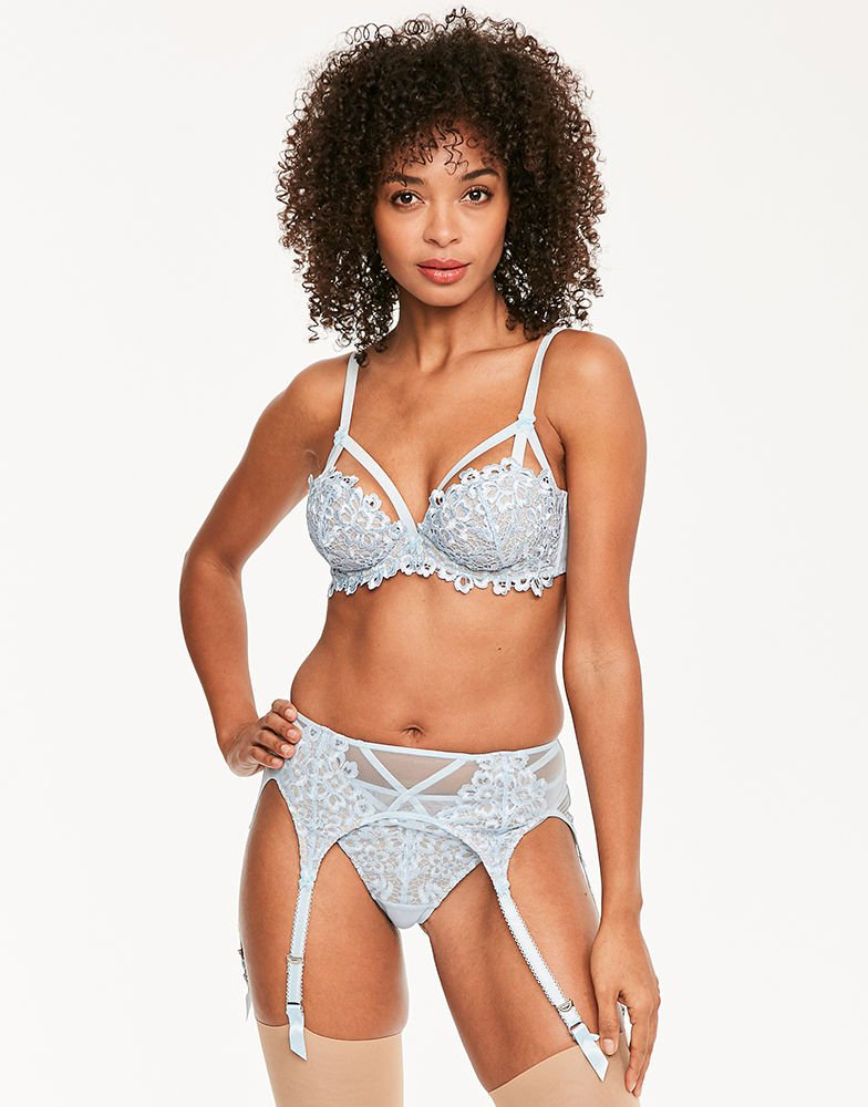 Dita von Teese Dahlia set - Bluebell - Figleaves Something Blue lingerie