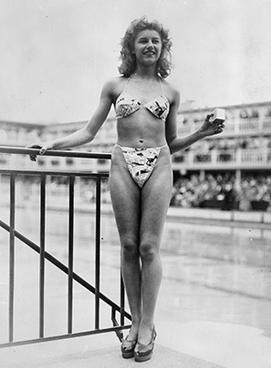 Micheline Bernardini in the original bikini