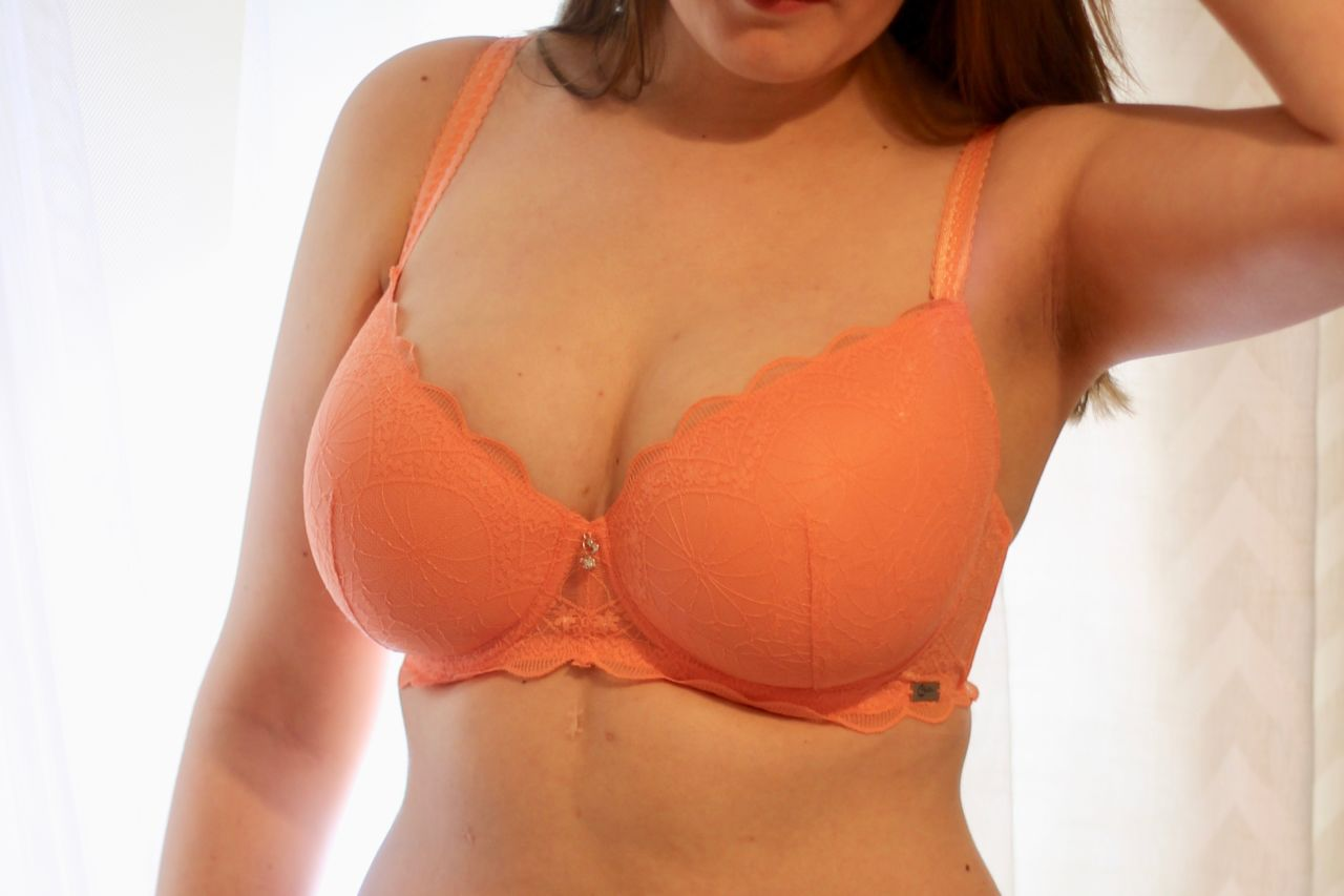 Cybele Lingerie Orange padded bra review