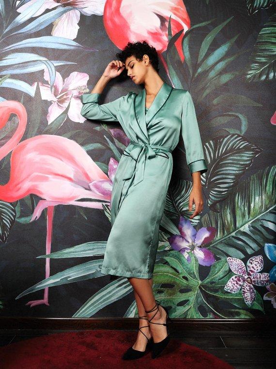 Lucia Berutto Satin Long Kimono - £59