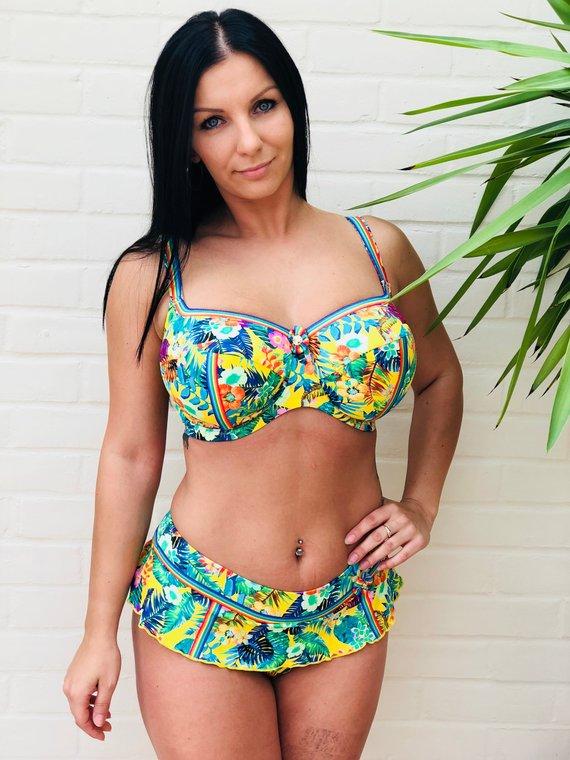 Offshore Swim Yellow Floral Bikini - £65