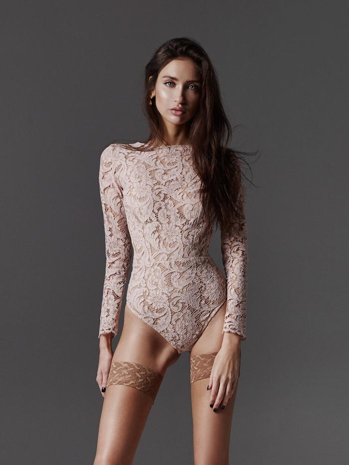 Freolic London Anne Pink Lace Body - UK lingerie brands